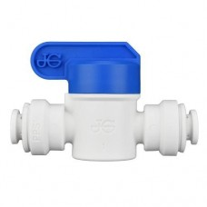 Ideal H2O JG Quick Connect Fitting - Inline Shut Off Valve  -   1/4 in - White (1/Bag)