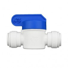 Ideal H2O JG Quick Connect Fitting - Inline Shut Off Valve  -   3/8 in - White (1/Bag)
