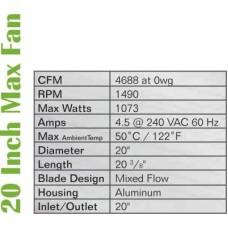 """20"""" Max-Fan, 4688 CFM"""