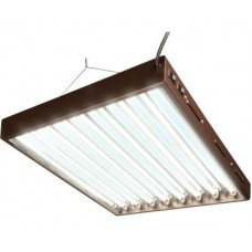 T5 Designer 4Ft 8 Tube Fixture w/Bulbs