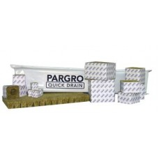 "Pargro Quick Drain 3""  no-hole wrapped, case of 24"